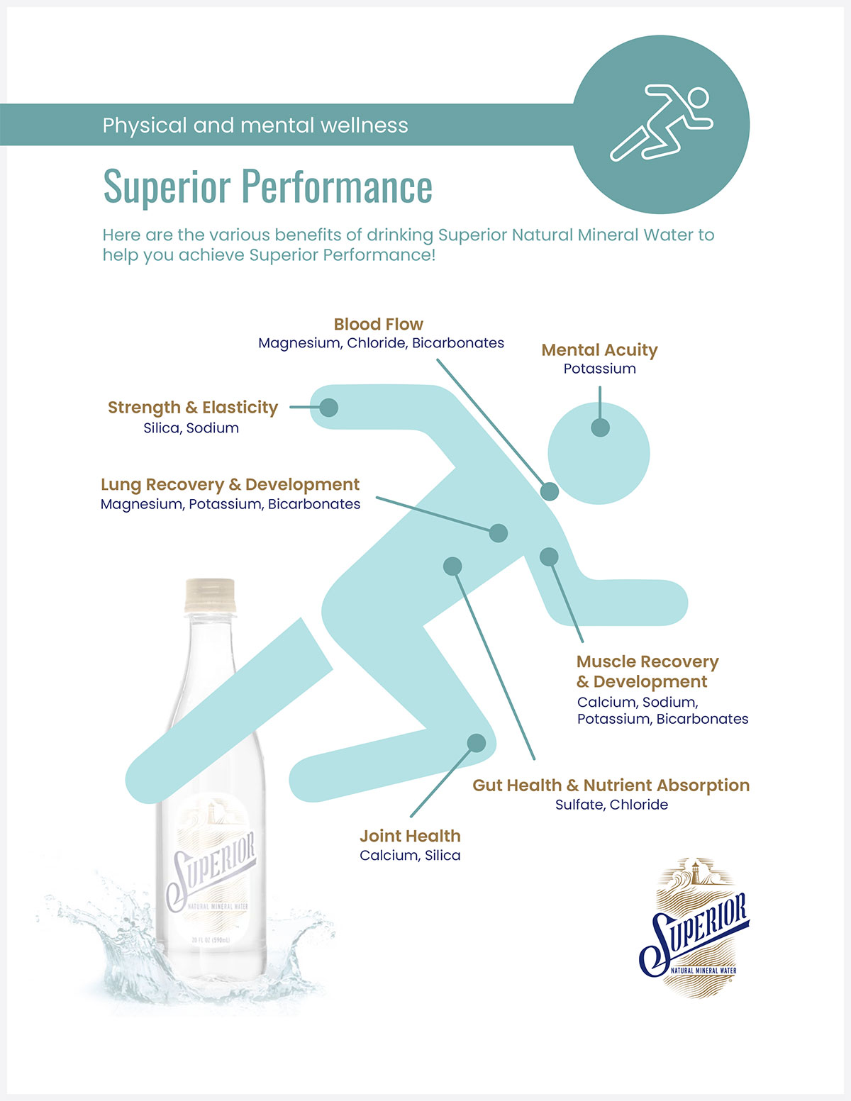 Image of the Superior Natural Mineral Water Wellness Information Document; complete the form on this page to receive your copy.