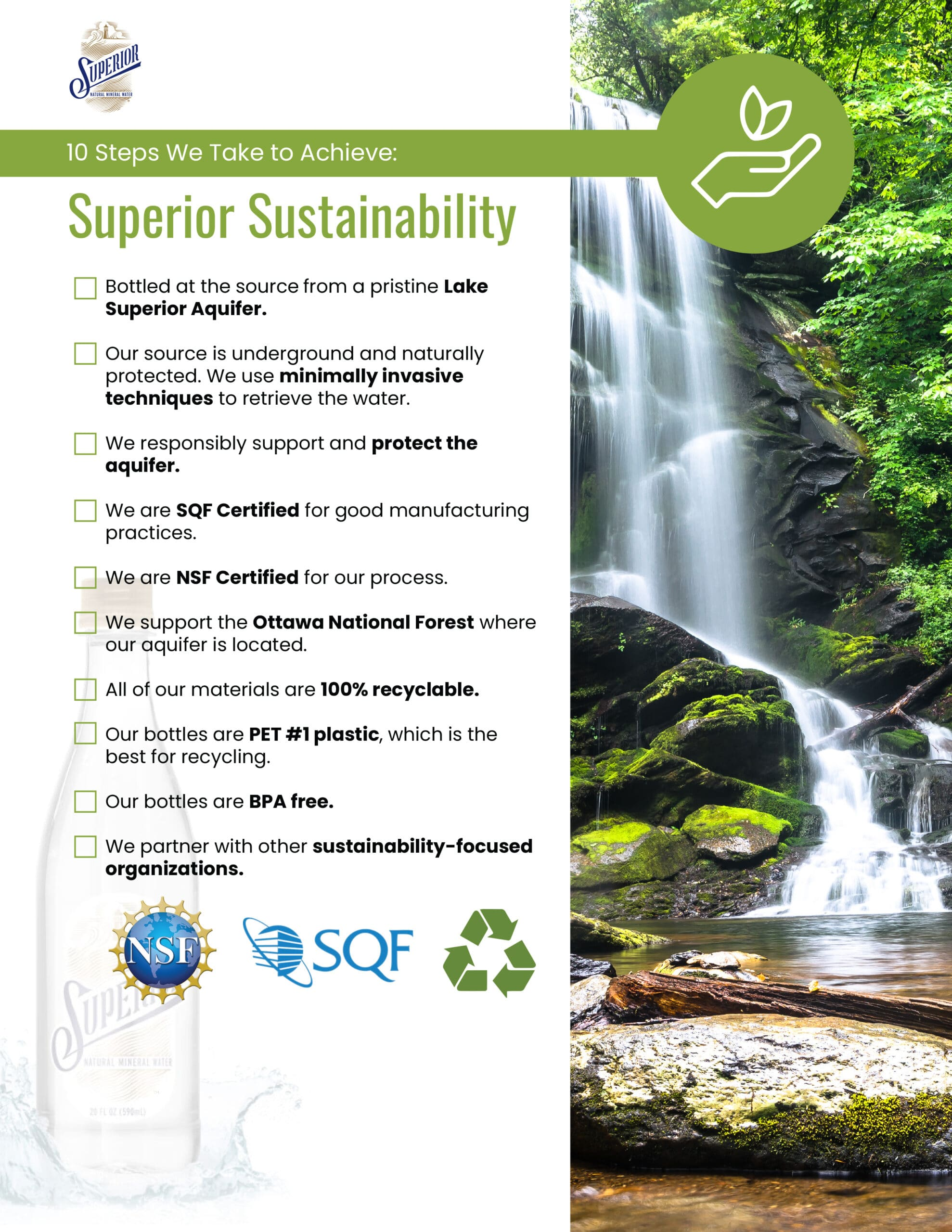 Image of our Superior Sustainability checklist. Fill out the form at the right to download your free copy.